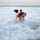 Several of our fellow students / co-workers were recently baptized in the ocean.