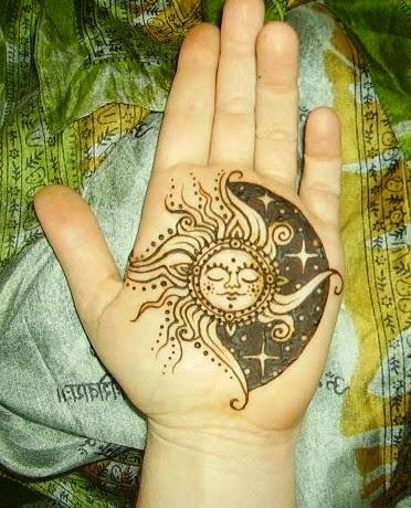 sun tattoos on hand