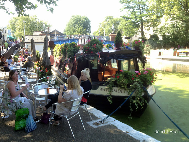 Cafe in Little Venice, along the Regent's Canal, London