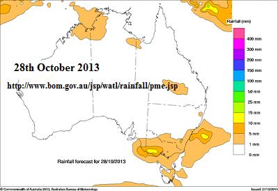 rain forecast 28th of 2013Australia