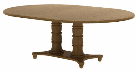 "74"" x 46"" Lotus Conference Table in Pecan Oak"