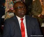 Patrice Kitebi, ministre délégué aux Finances lors de son interpellation à l'Assemblée nationale le 10/11/2014 à Kinshasa. Radio Okapi/Photo John Bompengo