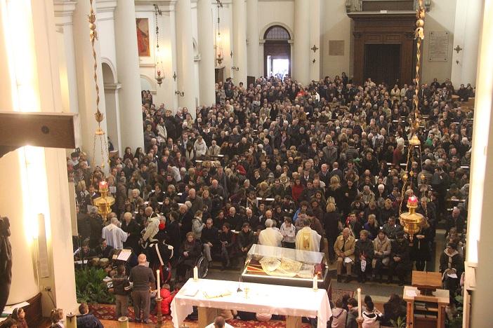Il Duomo durante l'Eucarestia delle 9.30 (foto Luigi Basso)