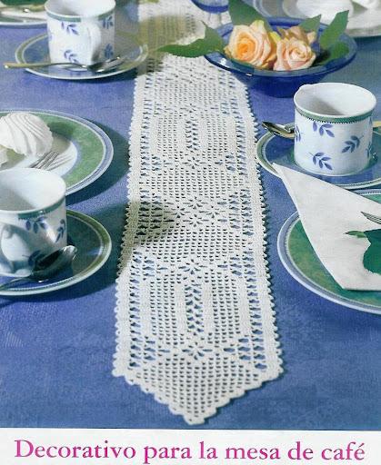 Solo a uncinetto una striscia da tavolo oppure come inserto per una tovaglia - Striscia uncinetto per tavolo ...