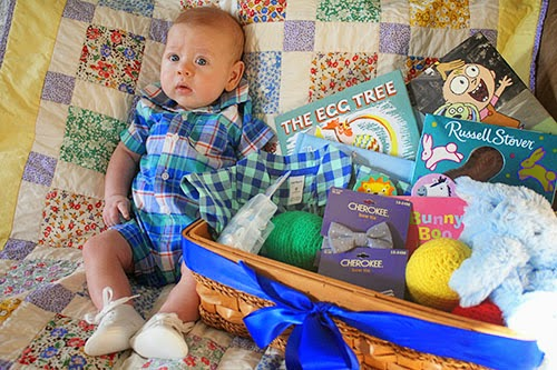 The redheaded stepchild babys first collaborative easter basket once it all came together an easter basket for a three month old didnt seem as ridiculous as it first felt even in years to come i think the book negle Choice Image