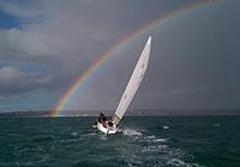 J/80 rainbow sailing