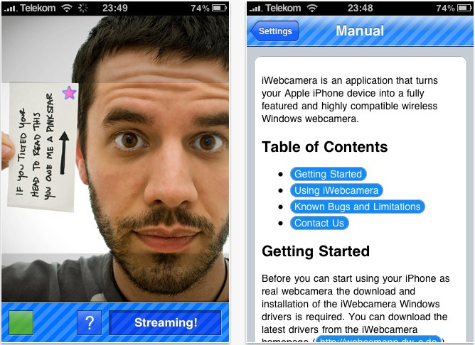 Apps para usar tu iPhone o Android como webcam