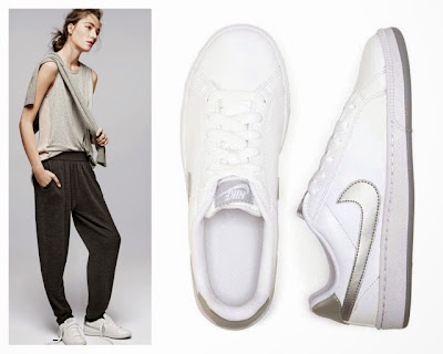 2015 Street Style White Sneakers Trend J Crew Vintage Nike Court Majestic