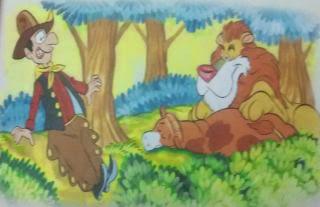 EL vaquero y el león