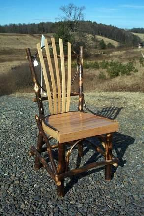 Amish Dining Chairs Amish Dining Chairs.  Hickory and oak. $140.00 ea