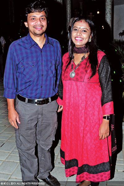 Sajeesh and Sithara at the wedding reception of Singer Ranjini Jose and Ram Nair, held in Kochi.