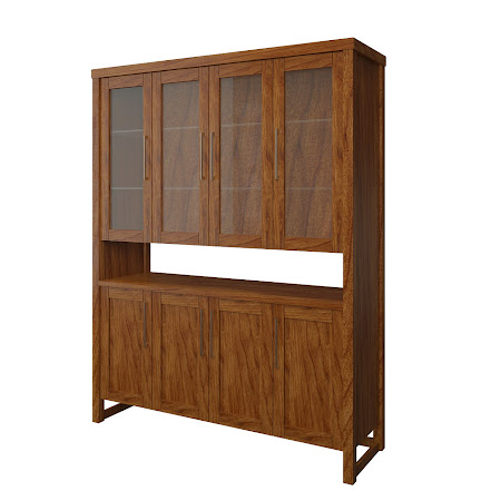 Sumatra China Cabinet in Caramel Cherry