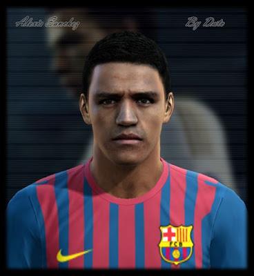 1067b816 PES 2012: Face de Alexis Sanchez – Barcelona