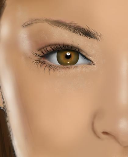 Digital Paint งานทดลองใช้ USB Graphic Tablet (เม้าส์ปากกา) Eyes