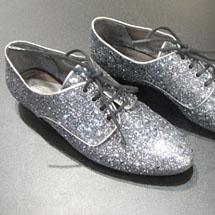 Oxford com glitter prateado