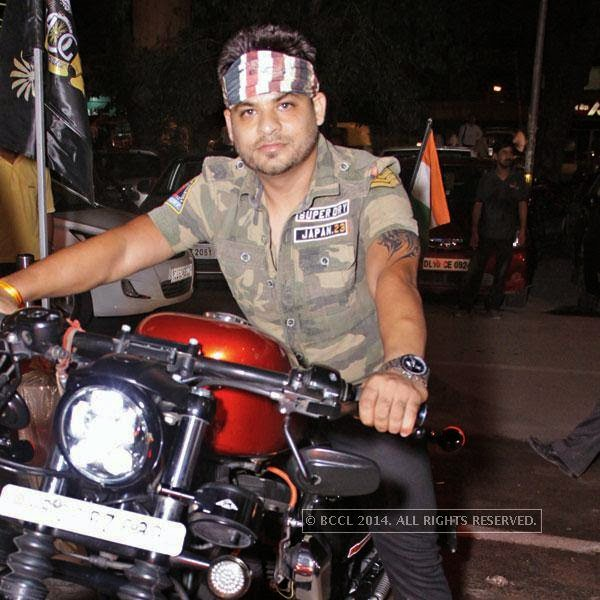Gaurav Miglani during bikers' night at AMPM Cafe & Bar, in Delhi.