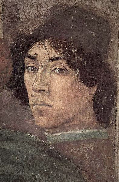 Filippino Lippi - Self-portrait. Detail from The Dispute with Simon Magus (1471-1472)