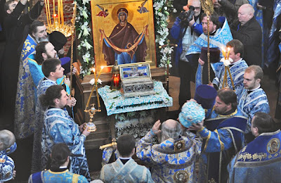Russia: Sacred Belt of the Virgin arrives in Russia