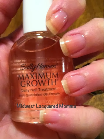 Midwest Lacquered Momma Sally Hansen Maximum Growth Nail Treatment