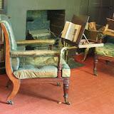 Læse stole i biblioteket på Malahide slot