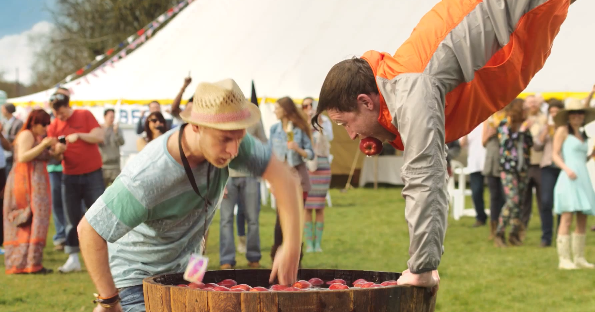 Carling British Cider: Apple Bobbing Advert