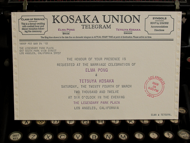 Letterpress Telegram Wedding Invitations Archives