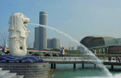 pating merlion