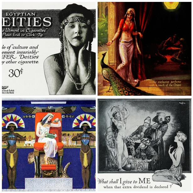 Egyptian Inspired 1920's Vintage Ads
