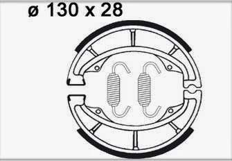 Bremsbacken hinten für Trommelbremse DR 600