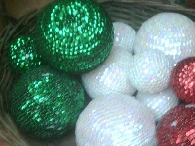 esferas con lentejuela