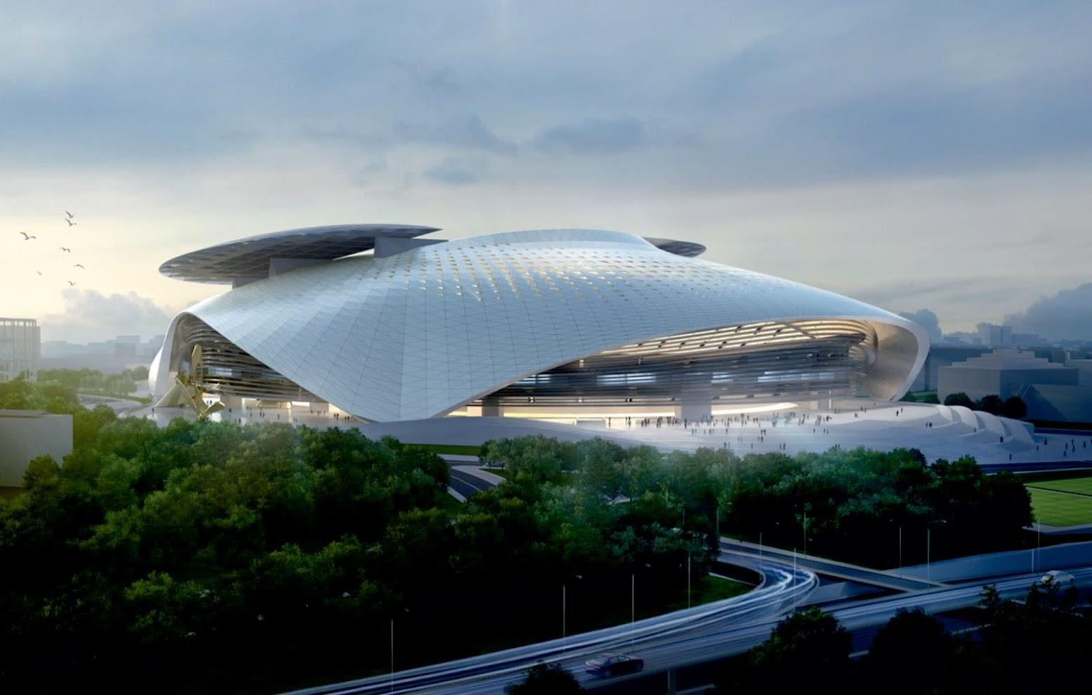Timisoara Arad Romania Silk Leaf Stadium By Coop