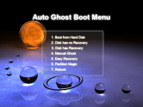 Auto Ghost boot menu