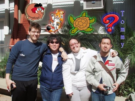 Murillo (Mamuty), eu (Tigre), Jú (Tartaruga) & Tommy (?)