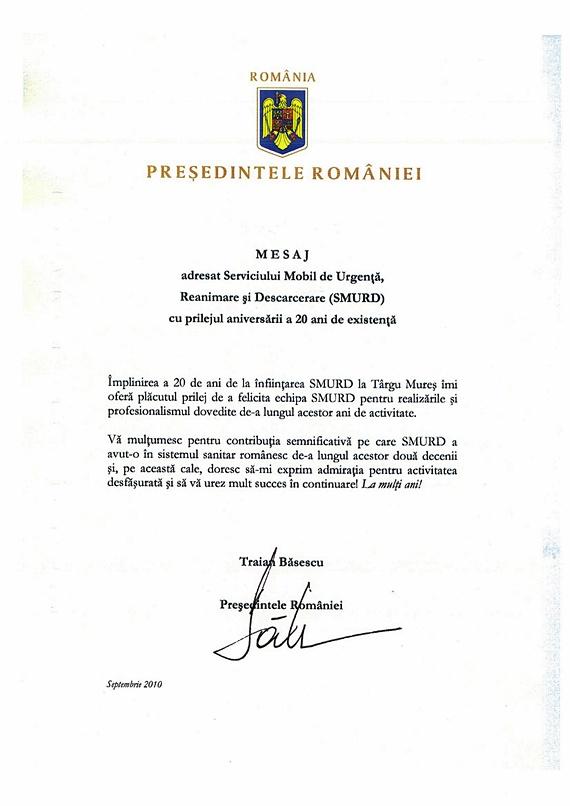 Cum lăudau SMURD-ul răzgândacii Băsescu, Boc şi Oprea