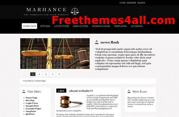 Free Joomla Lawyer Black Theme Template