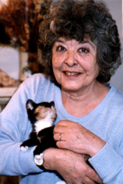 Diana Wynne Jones and a cat