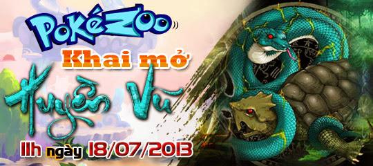 Pokezoo ra mắt máy chủ mới Huyền Vũ 2