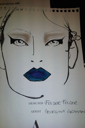 LFW backstage beauty: Felder