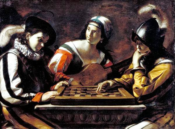 Mattia Preti - The Game of Draughts