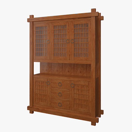 Tansu China Cabinet in Vermont Maple
