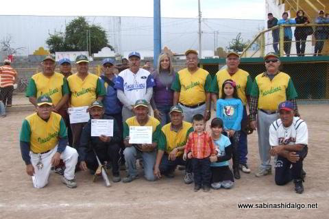 Equipo Insulinos en el softbol botanero