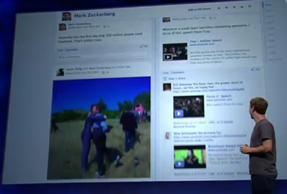 What is  Facebook Timeline?