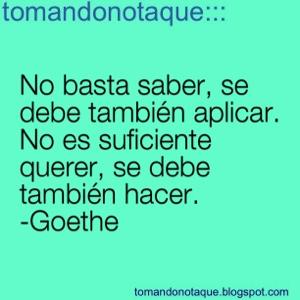 """""""frases célebres de sabiduria y Goethe"""""""