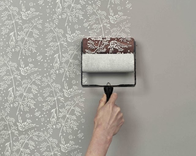 Paredes con chalk paint y rodillos decorativos