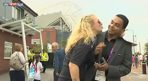 Olympic Reporter For Sky News Was Kissed Image