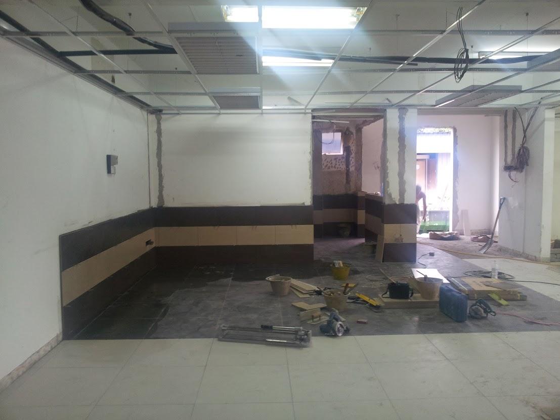 new wall tiles at kitchen