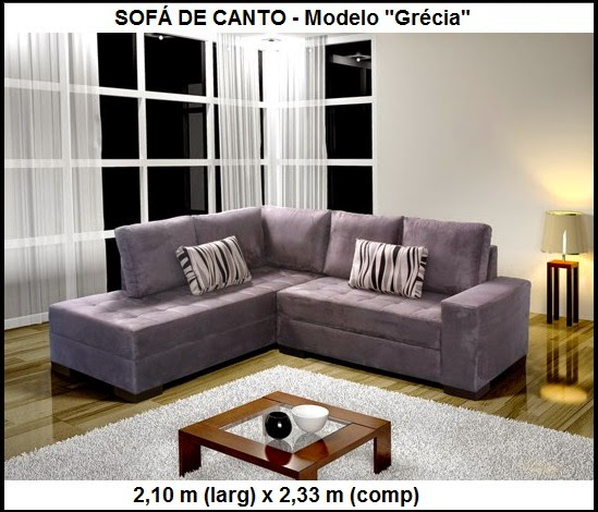 sofá de canto pequeno
