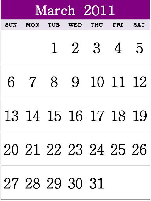 calendar 2011 template march. Free Printable Calendar 2011