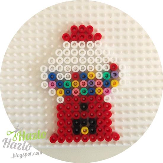 Cómo hacer una máquina de caramelos con hama beads.