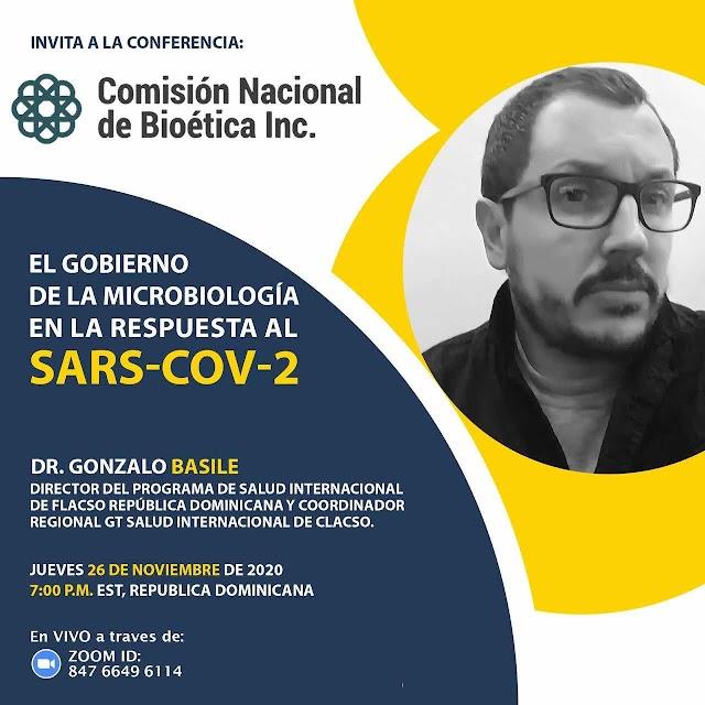 Comisión Nacional de Bioética invita a conferencia virtual sobre el gobierno de la microbiología en la respuesta a la pandemia del COVID-19